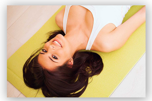 Yoga student in Hitchin