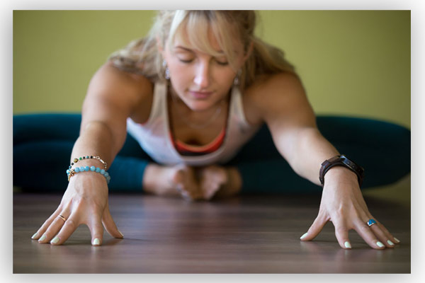 Yin Yoga student in Hitchin